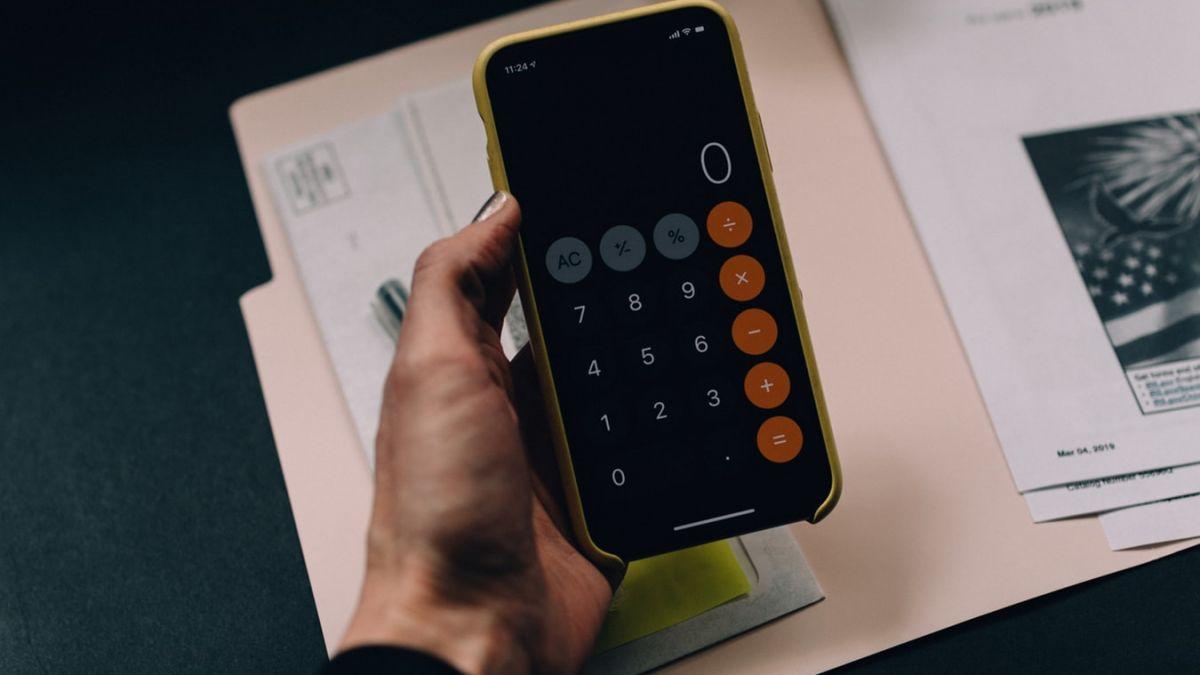 calculator on phone